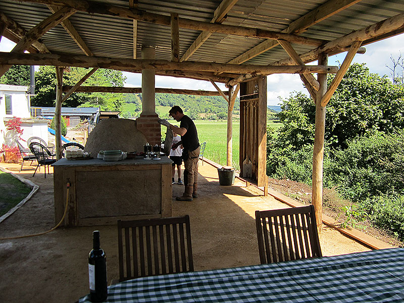 Loggia outdoor garden room and pizza oven
